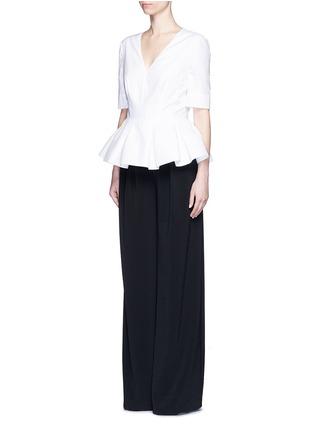 模特儿示范图 - 点击放大 - BALENCIAGA - 纯棉荷叶边上衣