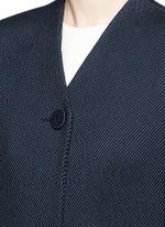 Cotton serge cocoon coat
