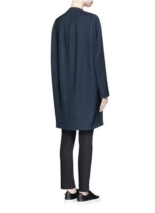 背面 - 点击放大 - BALENCIAGA - 凹凸斜纹混棉茧形大衣