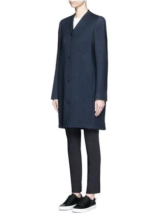 正面 -点击放大 - BALENCIAGA - 凹凸斜纹混棉茧形大衣