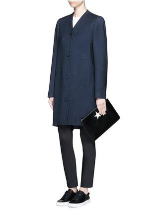 模特儿示范图 - 点击放大 - BALENCIAGA - 凹凸斜纹混棉茧形大衣