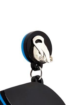 Detail View - Click To Enlarge - YAZBUKEY - 'Bette Davis Eyes' Plexiglas clip earrings