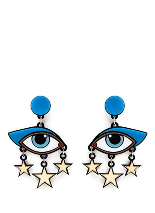 Main View - Click To Enlarge - YAZBUKEY - 'Bette Davis Eyes' Plexiglas clip earrings