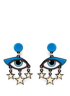 YAZBUKEY'Bette Davis Eyes' Plexiglas clip earrings
