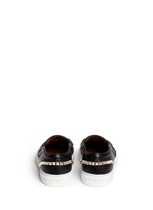 Back View - Click To Enlarge - Givenchy - Giant stud leather skate slip-ons