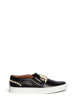 Main View - Click To Enlarge - Givenchy - Giant stud leather skate slip-ons