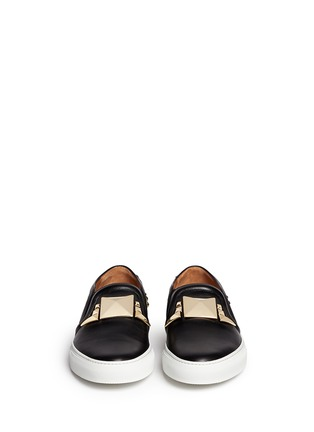 Figure View - Click To Enlarge - Givenchy - Giant stud leather skate slip-ons