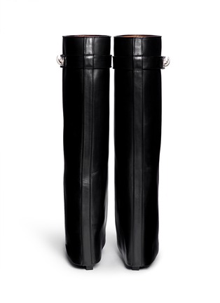 Givenchy-Shark tooth lock wedge boots