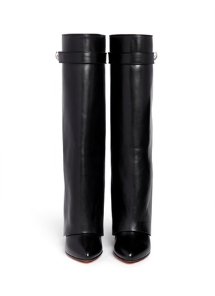 Figure View - Click To Enlarge - Givenchy - Shark tooth lock wedge boots