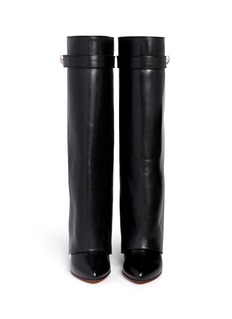 GIVENCHYShark tooth lock wedge boots