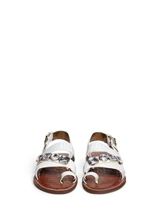 SAM EDELMAN 'Dailey' jewel cracked leather strappy sandals