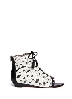 SAM EDELMAN'Daphnie' stud cutout suede sandals