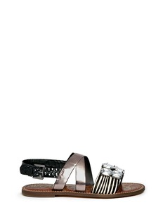 SAM EDELMAN 'Dorsey' jewel contrast band strappy sandals