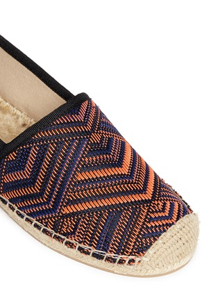 Detail View - Click To Enlarge - Sam Edelman - 'Lynn 1' woven Aztec pattern espadrilles