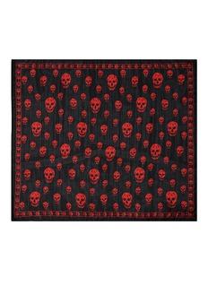 ALEXANDER MCQUEENSkull print silk scarf