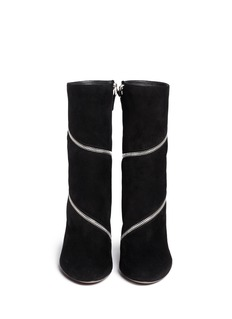 AZZEDINE ALAÏASpiral zip suede boots