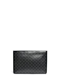 AZZEDINE ALAÏAArabesque stud leather flat pouch