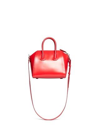 Back View - Click To Enlarge - Givenchy - 'Antigona' mini leather bag