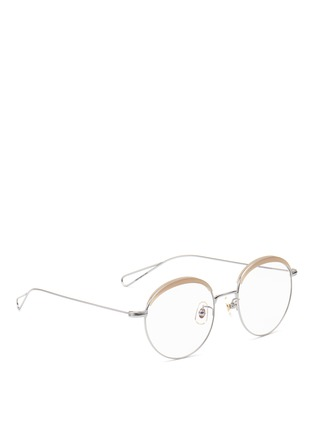 Figure View - Click To Enlarge - Stephane + Christian - 'Milli 04' acetate browline metal wire optical glasses