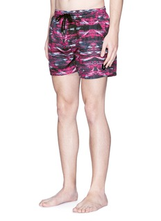 Insted We Smile Paint stroke print swim shorts