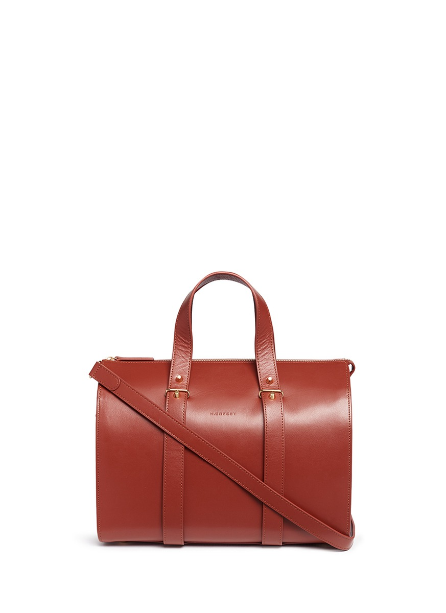 Eileen cowhide leather Boston bag by Haerfest