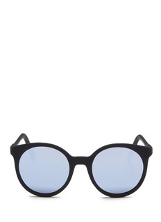Spektre'Stardust' matte acetate round mirror sunglasses