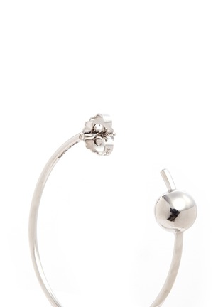 Detail View - Click To Enlarge - Maria Black - 'Orion Maxi' pierced hoop sterling silver earrings