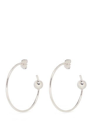 Main View - Click To Enlarge - Maria Black - 'Orion Maxi' pierced hoop sterling silver earrings