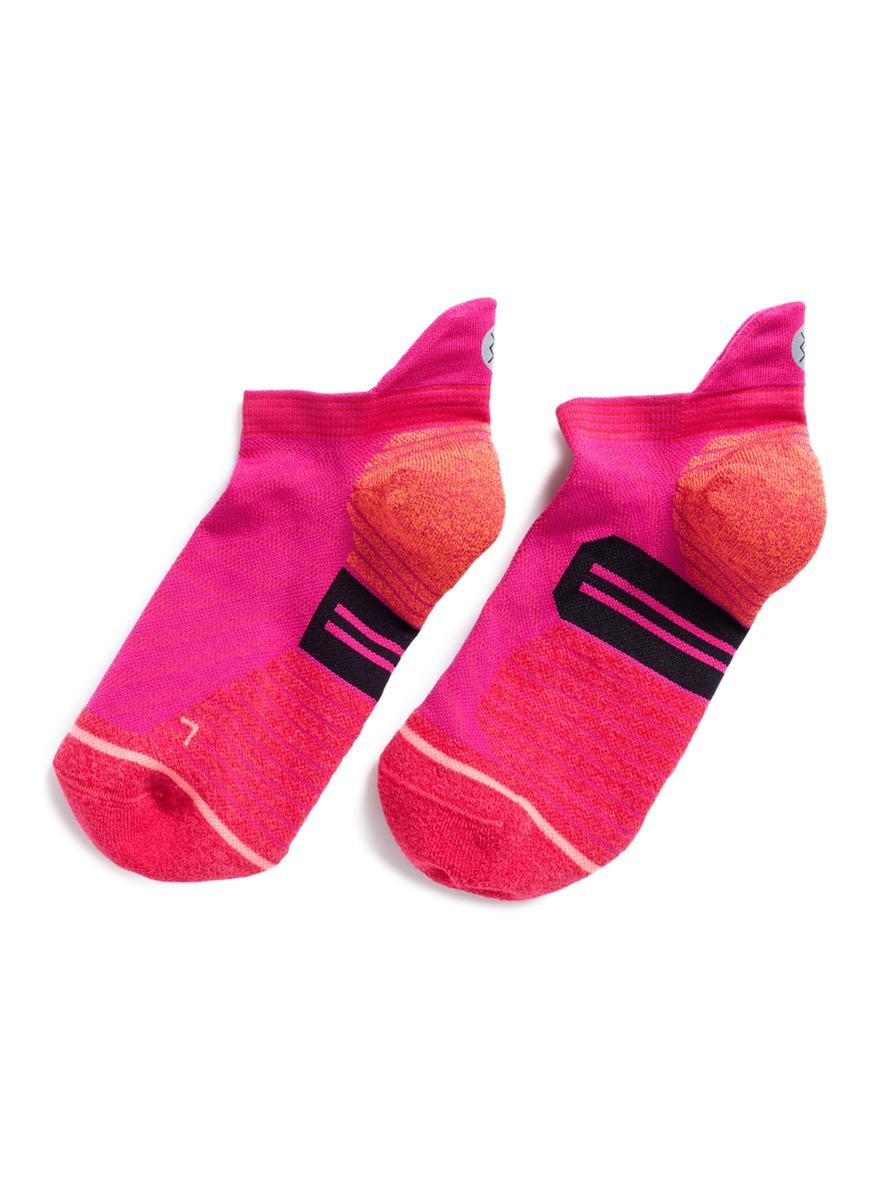 stance female painted low stripe reinforced heel performance socks
