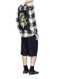 Public School 'Trin' detachable patch check plaid shirt