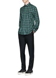 Public School'Retor' raw edge check plaid shirt