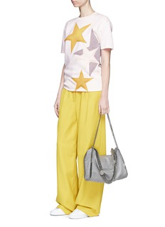 Stella McCartney Padded star appliqué bonded jersey T-shirt