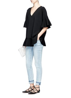 Valentino Flare ponte knit top