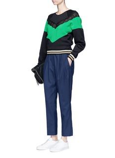 Stella McCartneyLace trim colourblock sweatshirt