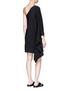 Rosetta GettyOne-shoulder cape sleeve dress