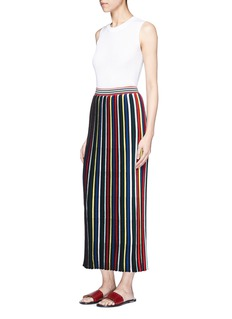Rosetta Getty Stripe rib knit Merino wool maxi skirt