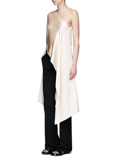 Rosetta Getty Asymmetric hem one-shoulder kaftan top