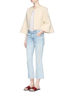 Rosetta Getty Bell sleeve cropped suiting jacket