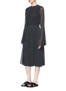 Rosetta GettyBell cuff fil coupé georgette dress