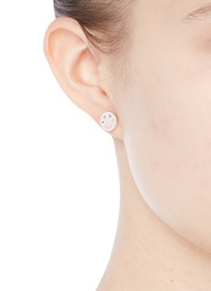 Ruifier 'Happy Sad' sterling silver cord stud asymmetric earrings