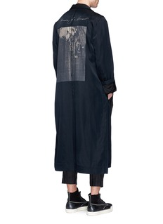 Song for the Mute'Lover' print long coat