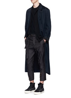 Song for the MuteStripe button cuff cropped pants