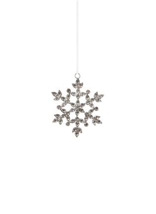 Main View - Click To Enlarge - Shishi As - Rhinestone snowflake Christmas ornament