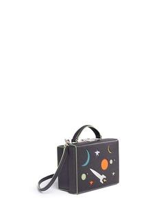 Mark Cross'Grace Small Box' galaxy cutout leather trunk