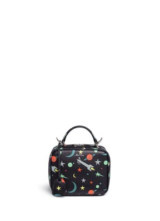 Mark Cross 'Baby Laura' leather box bag in Blastoff print