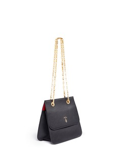 Mark Cross 'Francis Chain Flap' pebbled leather shoulder bag
