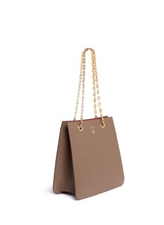 Mark Cross 'Francis' pebbled leather chain tote