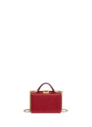 Detail View - Click To Enlarge - Mark Cross - 'Grace Box' mini saffiano leather trunk