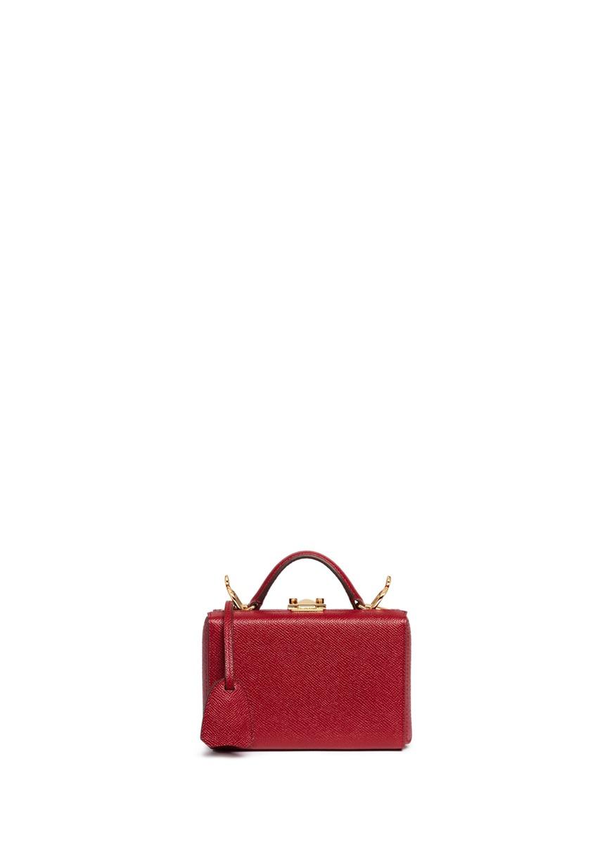 Grace Box mini saffiano leather trunk by Mark Cross