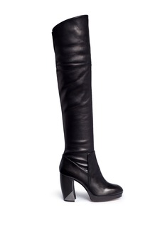Aperlai Aimee' stretch leather thigh high boots